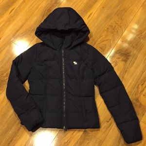 Size medium puffer coat from Abercrombie and Fitch